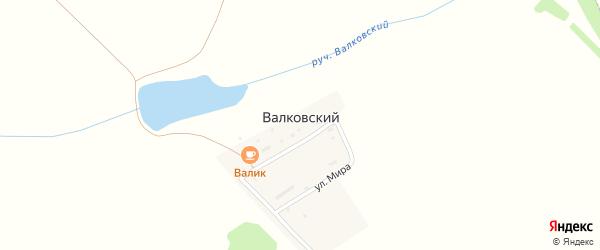 Улица Мира на карте Валковского хутора с номерами домов