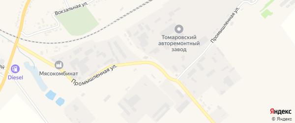 Промышленная улица на карте поселка Томаровка с номерами домов