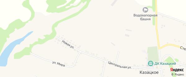 Новая улица на карте Казацкого села с номерами домов