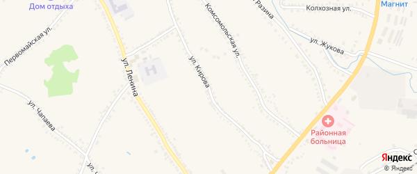 Улица Кирова на карте поселка Томаровка с номерами домов
