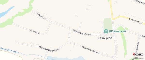 Центральная улица на карте Казацкого села с номерами домов