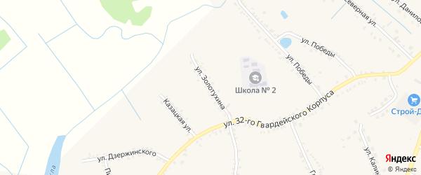 Улица Золотухина на карте поселка Томаровка с номерами домов