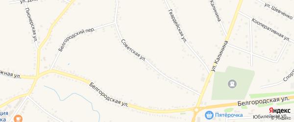 Советская улица на карте поселка Томаровка с номерами домов