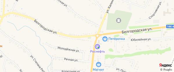Белгородская улица на карте поселка Томаровка с номерами домов