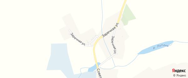 Заречная улица на карте села Красного Хутора с номерами домов