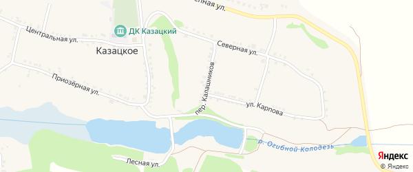 Переулок Калашников на карте Казацкого села с номерами домов