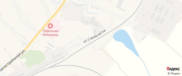 Улица Стройучасток на карте поселка Томаровка с номерами домов