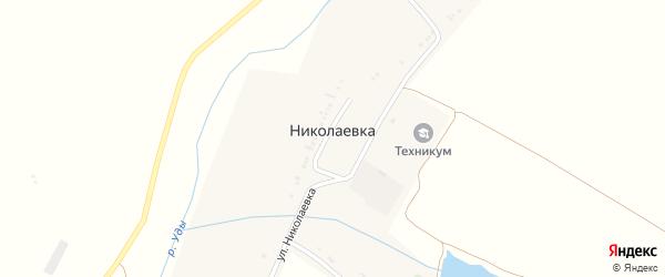 Рубежная улица на карте села Николаевки с номерами домов
