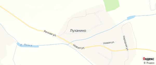 Карта села Луханино в Белгородской области с улицами и номерами домов