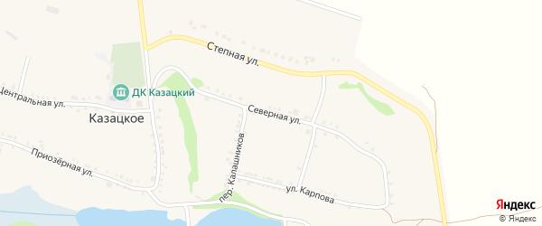Северная улица на карте Казацкого села с номерами домов