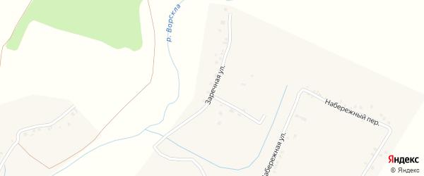 Заречная улица на карте села Красного Отрожка с номерами домов
