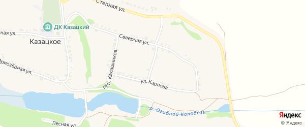 Борисовский переулок на карте Казацкого села с номерами домов