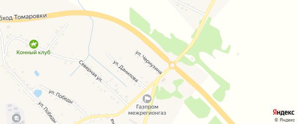 Улица Чернухина на карте поселка Томаровка с номерами домов