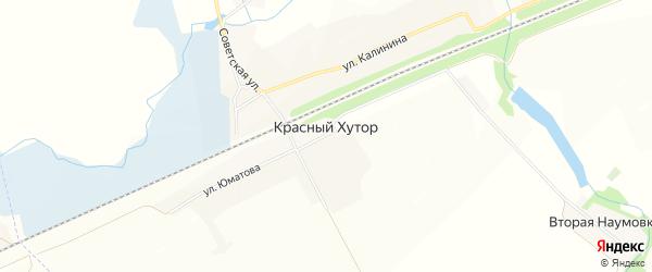 Карта села Красного Хутора в Белгородской области с улицами и номерами домов