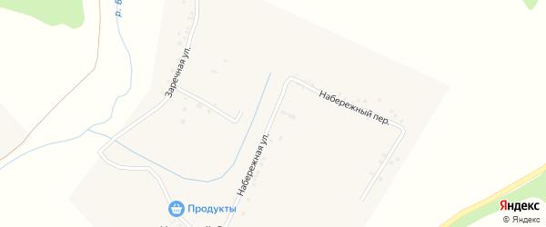 Заречный переулок на карте села Красного Отрожка с номерами домов