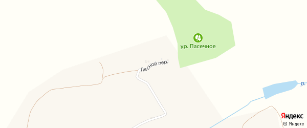 Лесной переулок на карте села Луханино с номерами домов