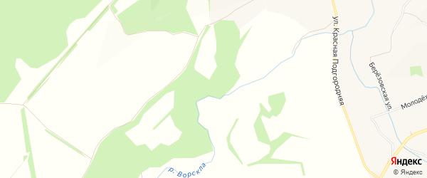 Карта хутора Михайлова в Белгородской области с улицами и номерами домов