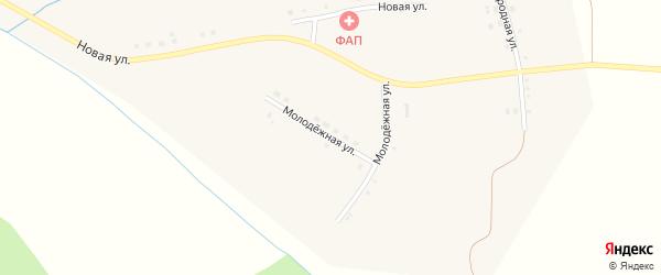 Молодежная улица на карте села Луханино с номерами домов