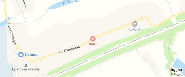 Улица Калинина на карте села Красного Хутора с номерами домов