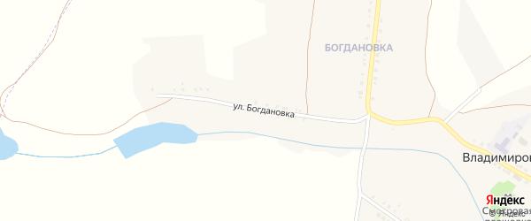 Улица Богдановка на карте села Владимировки с номерами домов
