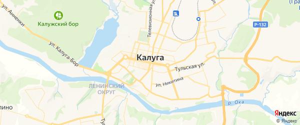 Карта Калуги с районами, улицами и номерами домов