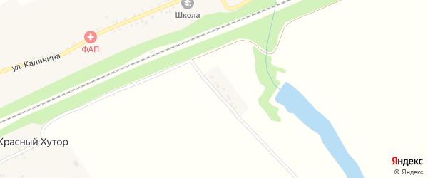 Железнодорожная улица на карте села Красного Хутора с номерами домов