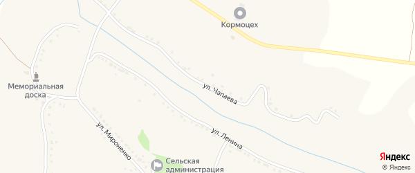 Улица Чапаева на карте села Сырцево с номерами домов