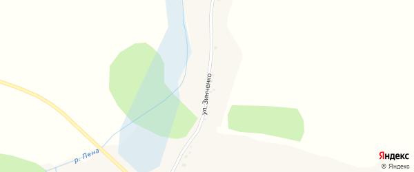 Улица Зинченко на карте села Сырцево с номерами домов