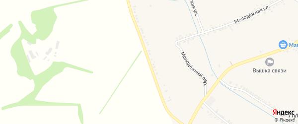 Красная Подгородняя улица на карте Пушкарного села с номерами домов