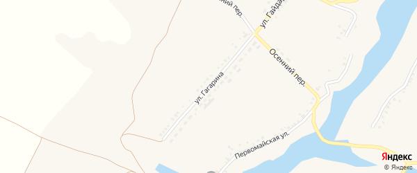 Улица Гагарина на карте села Верхопенья с номерами домов