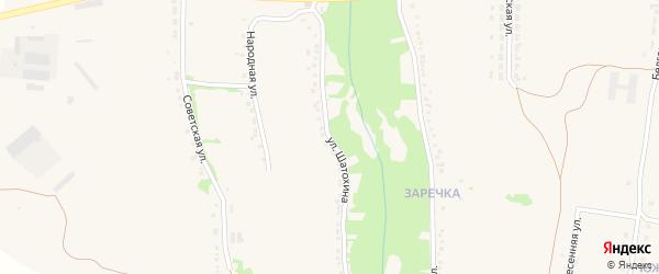 Улица Шатохина на карте села Верхопенья с номерами домов