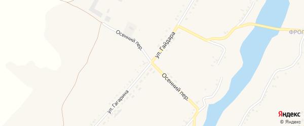 Осенний переулок на карте села Верхопенья с номерами домов