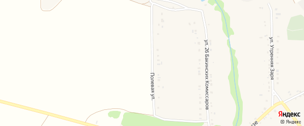 Полевая улица на карте села Бессоновки с номерами домов