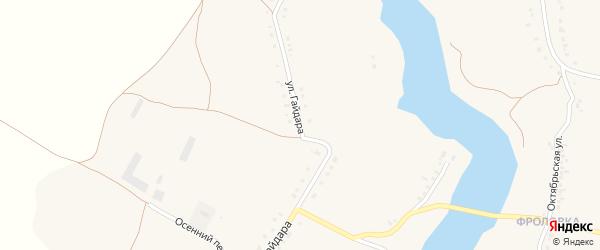 Улица Гайдара на карте села Верхопенья с номерами домов