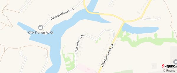 Солнечная улица на карте села Верхопенья с номерами домов