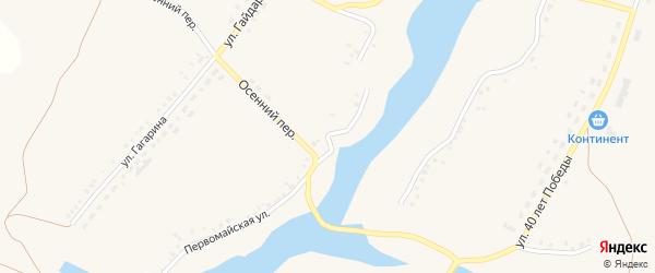 Первомайская улица на карте села Верхопенья с номерами домов