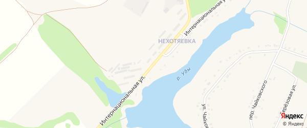 Интернациональная улица на карте села Бессоновки с номерами домов