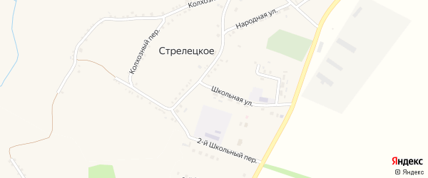 Школьная улица на карте Стрелецкого села с номерами домов
