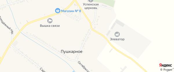 Октябрьский переулок на карте Пушкарного села с номерами домов