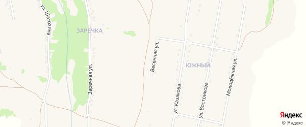 Улица Казакова на карте села Верхопенья с номерами домов