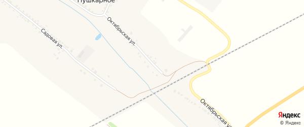 Октябрьская улица на карте Пушкарного села с номерами домов