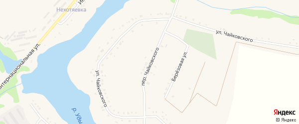 Переулок Чайковского на карте села Бессоновки с номерами домов