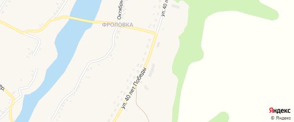 Улица 40 лет Победы на карте села Верхопенья с номерами домов