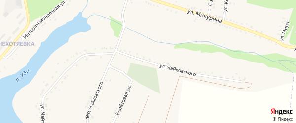 Улица Чайковского на карте села Бессоновки с номерами домов