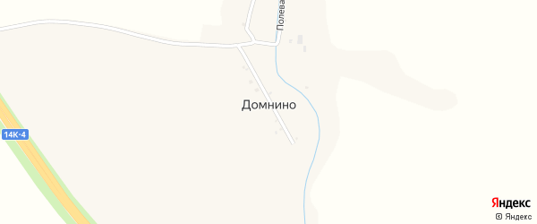 Полевая 1-я улица на карте хутора Домнино с номерами домов