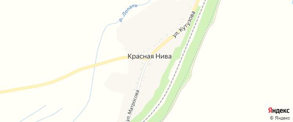 Улица Кутузова на карте села Красной Нивы с номерами домов