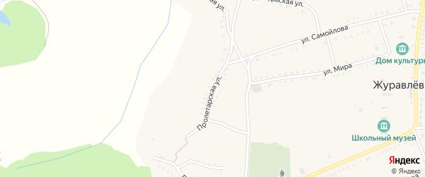 Пролетарская улица на карте села Журавлевки с номерами домов