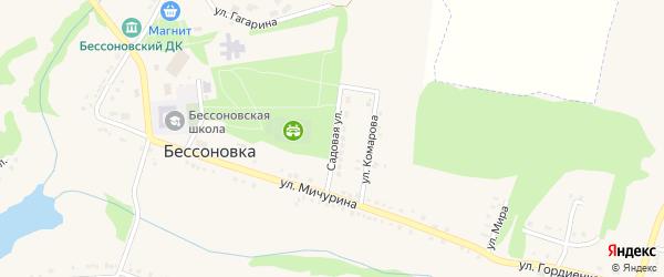Садовая улица на карте села Бессоновки с номерами домов