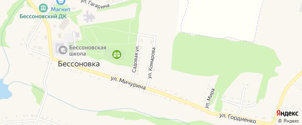 Улица Комарова на карте села Бессоновки с номерами домов