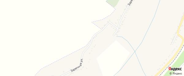 Заречная улица на карте Отрадного села с номерами домов